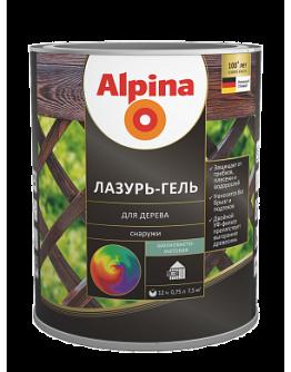 Alpina лазурь-гель для дерева шелковисто-матовый,  10 л