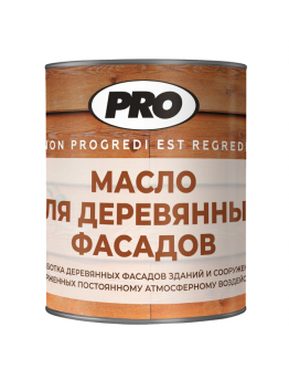 Масло для фасада из дерева PRO Colore 0.9 л , Прозрачный
