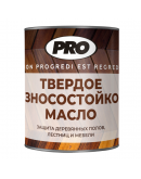 Масло твёрдое с воском для пола PRO Colore 0.9л, Прозрачный