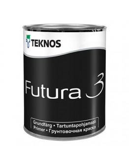 Грунт-краска Teknos Futura 3 белый 0,9л