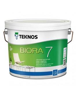 Краска воднодисперсионная TEKNOS Биора 7 Сейнамаали РМ1 0,9л