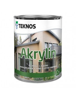 Краска для дерева TEKNOS Акрилин 0,9л , RAL-9003