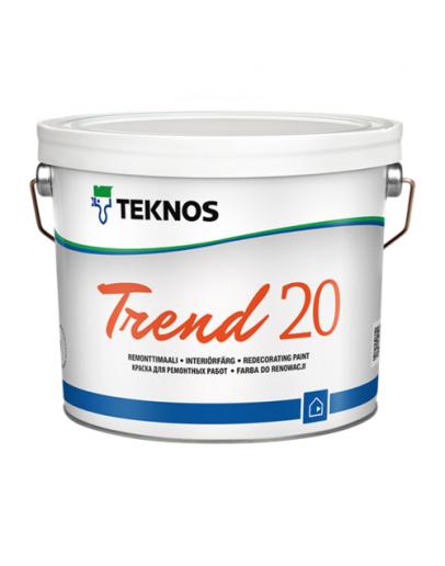 Краска воднодисперсионная Teknos Trend 20 PM1 9л