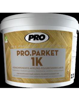 Лак для паркета однокомпонентный Pro Parket 1K 0,9 л , Бесцветный